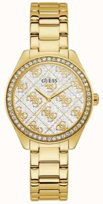 Guess | Women's Sugar | Gold Plated Steel Bracelet | White Dial | GW0001L2