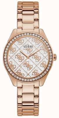 Guess | Women's Sugar | Rose Gold Tone Steel Bracelet | White Dial GW0001L3