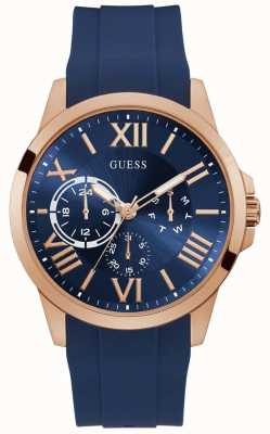 Guess | Men's Orbit | Blue Rubber Strap | Blue Dial | GW0012G3