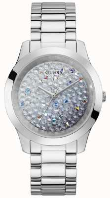 Guess | Women's Crush | Stainless Steel Bracelet | Glitter Dial GW0020L1