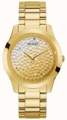 Guess | Women's Crush | Gold-Tone Steel Bracelet | Glitter Dial GW0020L2