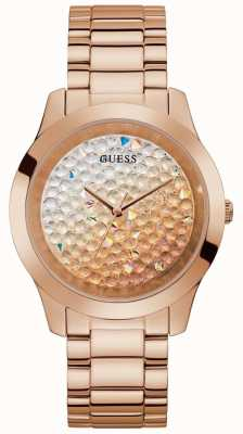 Guess | Women's Crush | Rose-Gold Steel Bracelet | Glitter Dial | GW0020L3
