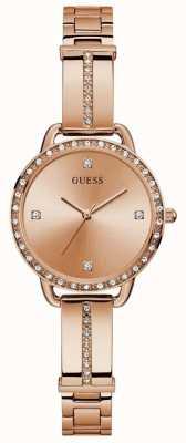 Guess | Women's Bellini | Rose Gold Steel Bracelet | Rose Dial | GW0022L3