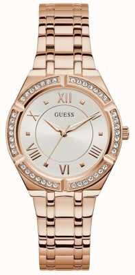 Guess | Women's Cosmo | Rose-Gold Steel Bracelet | White Dial | GW0033L3