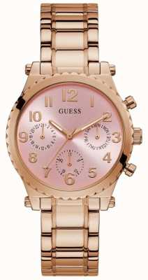 Guess | Women's Gwen | Rose Gold Steel Bracelet | Pink Dial | GW0035L3