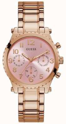 Guess | Women's Gwen | Rose Gold Steel Bracelet | Pink Dial | GW0035L3