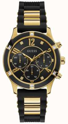 Guess | Women's Breeze | Black Rubber Strap | Black Dial | GW0039L1