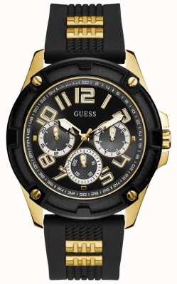 Guess | Men's Delta | Black Rubber Strap | Black Dial | GW0051G2