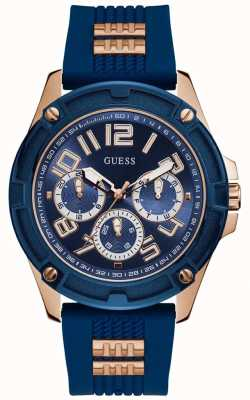 Guess | Men's Delta | Blue Rubber Strap | Blue Dial | GW0051G3
