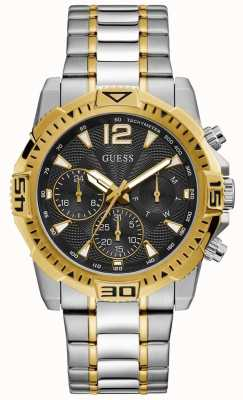 Guess | Men's Commander | Two-Tone Steel Bracelet | Black Dial | GW0056G4