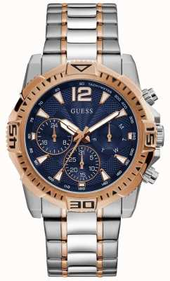 Guess | Men's Commander | Two-Tone Steel Bracelet | Blue Dial | GW0056G5