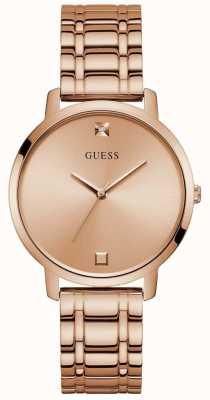 Guess | Women's Nova | Rose-Gold Steel Bracelet | Rose Dial | W1313L3