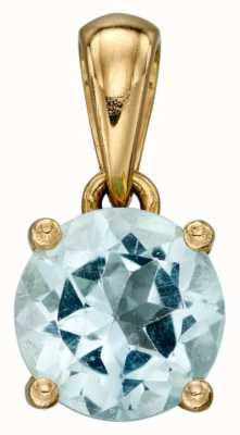 Elements Gold 9k Y/gold Aquamarine Birthstone Pendant Only GP2191