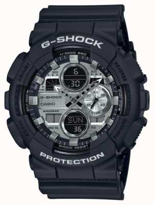 Casio | G-Shock World Time | Black Rubber | Black Dial GA-140GM-1A1ER