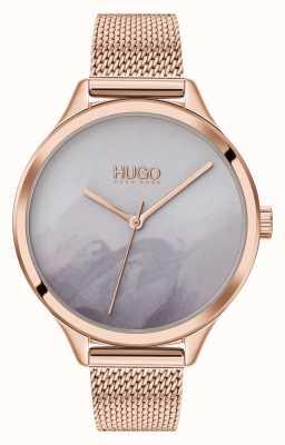 HUGO #SMASH | Grey Blush Dial | Rose Gold Mesh 1540060
