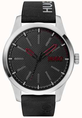 HUGO #INVENT | Black Dial | Black Leather Strap 1530146