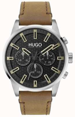 HUGO #SEEK | Black Dial | Brown Leather Strap 1530150