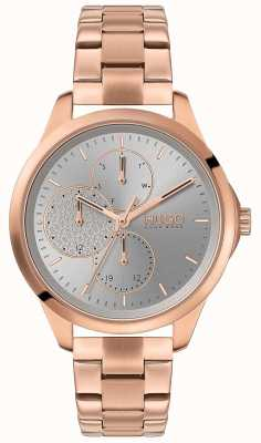 HUGO #FEARLESS | Silver Dial | Rose Gold PVD Bracelet 1540049