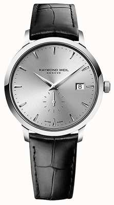 Raymond Weil Men's | Toccata | Black Leather Strap | Silver Dial 5484-STC-65001
