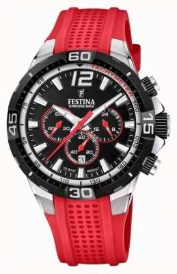 Festina Chrono Bike 2020 Black Dial Red Strap F20523/7