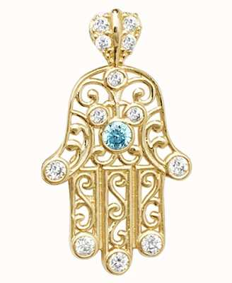 Treasure House 9ct Fold Hamsa Hand Cz Filigree Pendant PN067