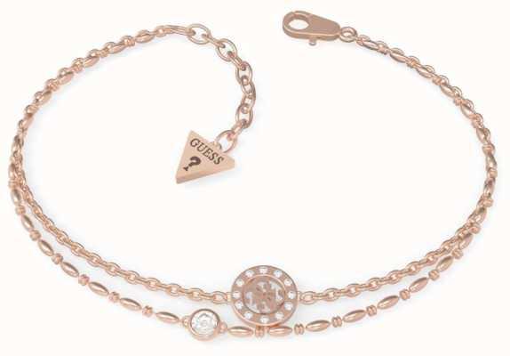 Guess Miniature | Rose Gold PVD Charm Bracelet UBB79034-L