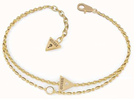 Guess Miniature | Gold PVD Triangle Charm Bracelet UBB79036-L