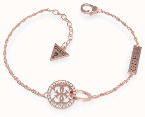 Guess Equilibre | Rose Gold PVD Circle Charm Bracelet UBB79079-L