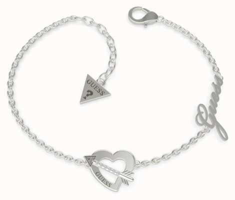 Guess Across My Heart | Stainless Steel Silver Bracelet UBB79090-L