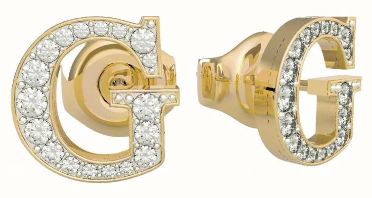 Guess G Multi Chain | Gold PVD Crystal 'G' Stud Earrings UBE79110