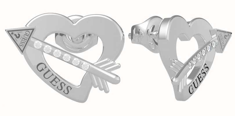Guess Across My Heart | Stainless Steel Heart Stud Earrings UBE79121
