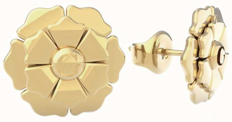 Guess Peony | Gold PVD Flower Stud Earrings UBE79199