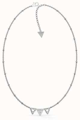 Guess Queen Of Hearts | Stainless Steel Triple Triangles Necklace UBN79006