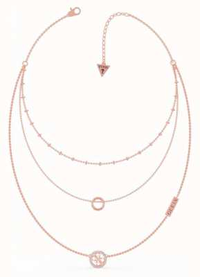 Guess Equilibre | Rose PVD Dual Logo Necklace UBN79050