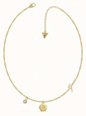 Guess Peony | Gold PVD Charm Necklace UBN79159