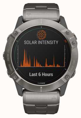 Garmin Fenix 6X Pro Solar | Titanium Bracelet and Orange Strap 010-02157-24