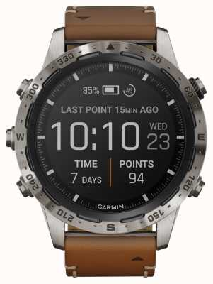 Garmin MARQ Adventurer | Brown Leather and Black Rubber Strap 010-02006-27