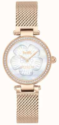 Coach | Women's Park | Rose Gold Mesh | Flower Dial | 14503511