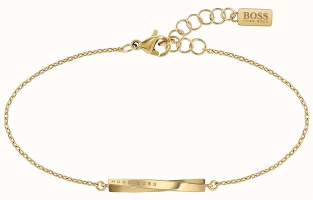 BOSS Jewellery Signature Gold PVD Steel Bracelet 180mm 1580007