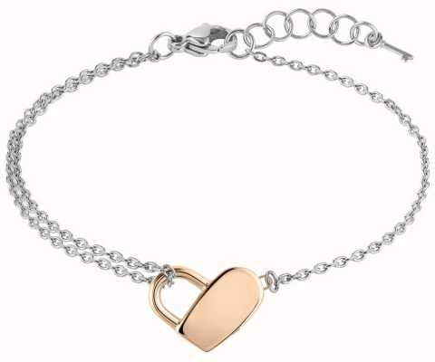 BOSS Jewellery Soulmate Steel Heart Two Tone Bracelet 180mm 1580066