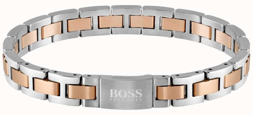 BOSS Jewellery Metal Link Essentials Two Tone 200mm 1580056