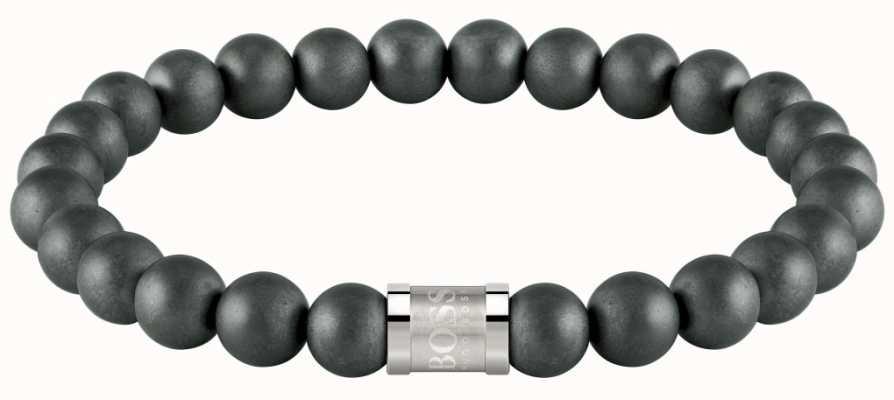 BOSS Jewellery Beads For Him Matt Hematite 180mm 1580041M