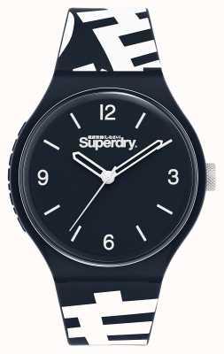 Superdry Urban XL | Blue Silicone Strap | Blue Dial SYG294UW