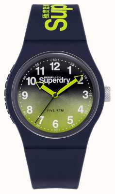 Superdry Urban Lazer | Navy Silicone Strap | Lime/Navy Dial SYG198YU