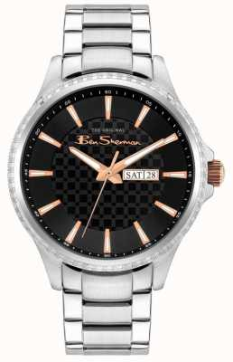Ben Sherman Men's Stainless Steel Silver Bracelet | Black Dial BS029BSM