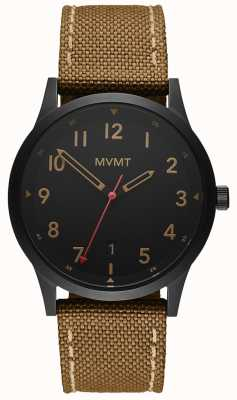 MVMT | Field | Brown Canvas Strap | Black Dial 28000017-D
