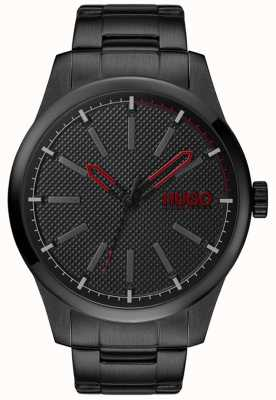 HUGO #INVENT | Black Steel Bracelet | Black Dial 1530148