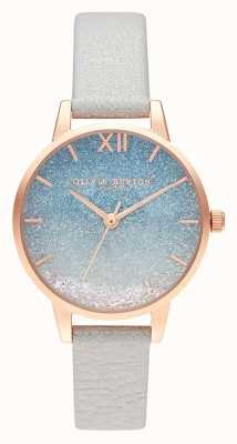 Olivia Burton Wishing Wave Glitter Dial | Pearl Leather Strap OB16US26