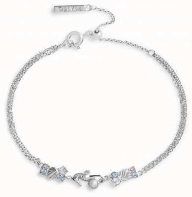 Olivia Burton Seahorse Sparkle Silver Chain Bracelet OBJSCB05