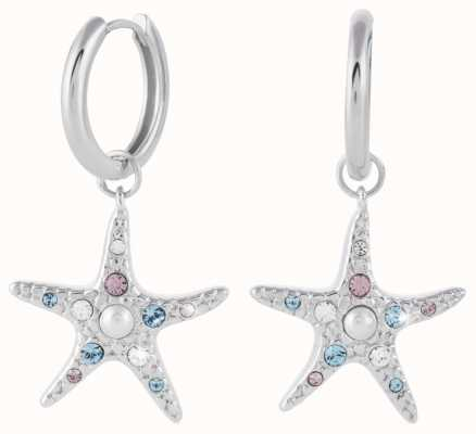 Olivia Burton Starfish Sparkle Silver Huggie Earrings OBJSCE33